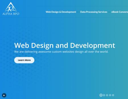 Alpha BPO: Website Design and Development Company